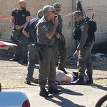 BREAKING PHOTOS: Arab terrorist rams into group of people in Jerusalem wounding 5, terrorist shot & wounded. http://t.co/ys9y9iw5EL