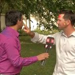 RT @cricketnext: Ricky Ponting plays 'Rang Barse' with CNN-IBN team in Australia.