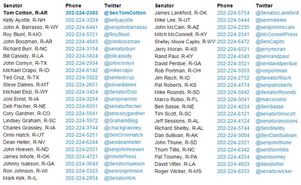 Thank you ALL for retweeting the #47Traitors names and phone numbers. Now CALL THEM! #GOPWantsWar http://t.co/4qyhAtwnC7 #UniteBlue