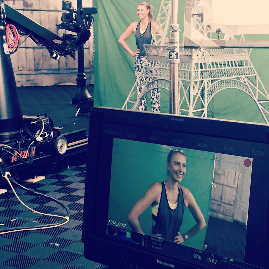 Yeah @MariaSharapova, so fun having you shoot with @TennisChannel thanks for joining us http://t.co/pvB4aoyaKw