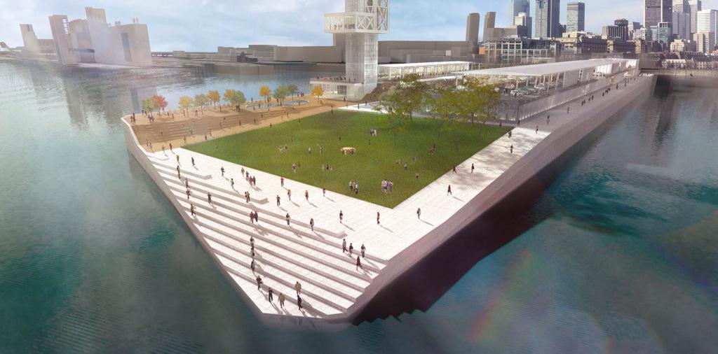 Le projet de gare maritime de @PortMTL permettra notamment de redonner accès au fleuve aux Montréalais. #ForumCCMM http://t.co/lsZBDwmsYK