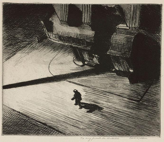 RT @adalbertoasf: Edward Hopper, Night Shadows, 1921. http://t.co/l3nma2OTSx