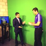 Our friend @tallyhallGK about to try out his weather skills again on #GDO! Way to go!! #GoCity @OrlandoCitySC #Fox35 http://t.co/Z32cOzdVzZ