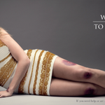 .@SalvationArmySA tweeted this image, featuring #TheDress, to highlight violence against women. http://t.co/RwPRvsA6fk