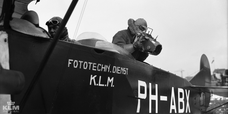In the early days KLM already took cameras up into the air.