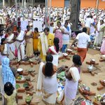 Talking to some of the lakhs of women who offered Pongala at Attukal temple in Thiruvananthapuram yesterday http://t.co/zs0lkf0RQ2