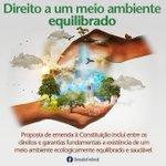 #Bomdia PEC prevê direito a meio ambiente ecologicamente equilibrado http://t.co/dsFYBywIia http://t.co/ltkvg4HRLr