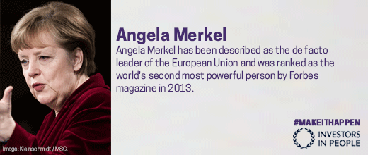5 women who never took no for an answer. 2: Angela Merkel, Forbes 2nd most powerful person in 2013. #Makeithappen http://t.co/pvayVuLiNu