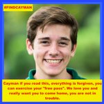 @phillymag @6abc @cnnbrk @phillydailynews Lets make sure Cayman hears these words from his family! #findcayman http://t.co/Dr55UIzjDu