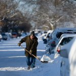 Bill Gurreri shovels out his car on Madison Ave in York #yorksnow http://t.co/gS8u6jNuxR