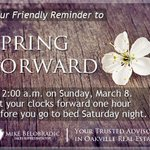 Dont forget to Spring Forward this weekend! #oakville #springforward http://t.co/R3Pi3h4hEe