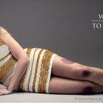 Porque é tão difícil ver: campanha sobre violência contra as mulheres usa o vestido. http://t.co/4c2FqkcwQT http://t.co/Mlaqtdb11f