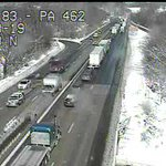 Traffic backing up on I-83 north before Route 30 because of a crash. #yorksnow updates: http://t.co/2h9APQcjH9 http://t.co/n8QUnB9IYY