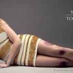 """.@SalvationArmySA uses #TheDress in poignant ad re: domestic violence. Asks """"Why is it so hard to see #blackandblue """" http://t.co/gmqKuQLtL3"""