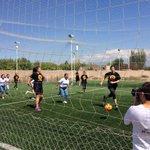 Invitamos a las cortes a un torneo de fútbol y las chicas salieron a la cancha. Miralo por @Acequia #Vendimia2015 http://t.co/Y3DFmxVY1A