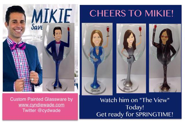 Look at the amazing glasses @cydwade made for me and the ladies of @TheView @fyi #mikiesavesthedate http://t.co/4CIPMMG4gb