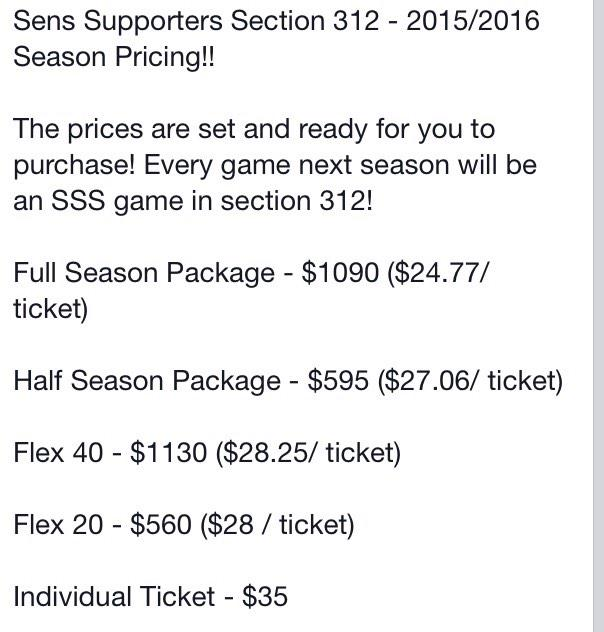 CONTEST! 2 FREE tix 2 our next #SensSupportersSection game on Sunday! RT 2 be entered-SSS season seats on sale! #Sens http://t.co/BtsKfnsQNr