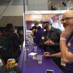Meet & Greet #1 is underway from the back of our booth with @edemonster, @professorbroman, & @gothalion! #PAXEast2015 http://t.co/VqoRA4pPI7