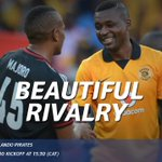 Africas biggest derby comes alive tomorrow! Who will walk away with bragging rights? #SSDiski #SowetoDerby http://t.co/vTHb6XWDSm