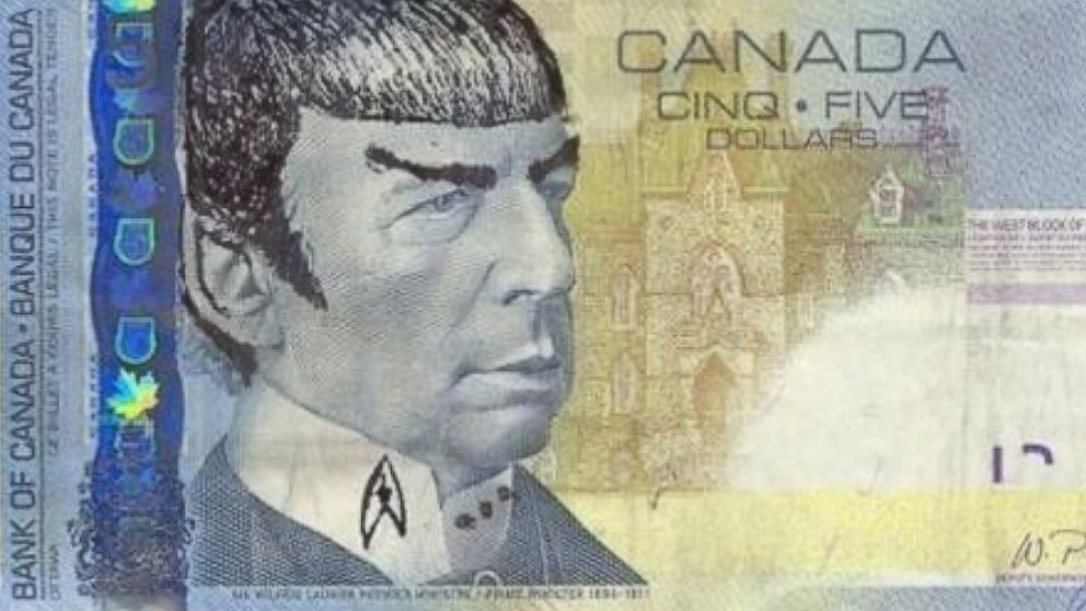 "Canadians are ""Spocking"" their money to honor Leonard Nimoy http://t.co/cnUtjtu4UE http://t.co/jupmtcBSI4"