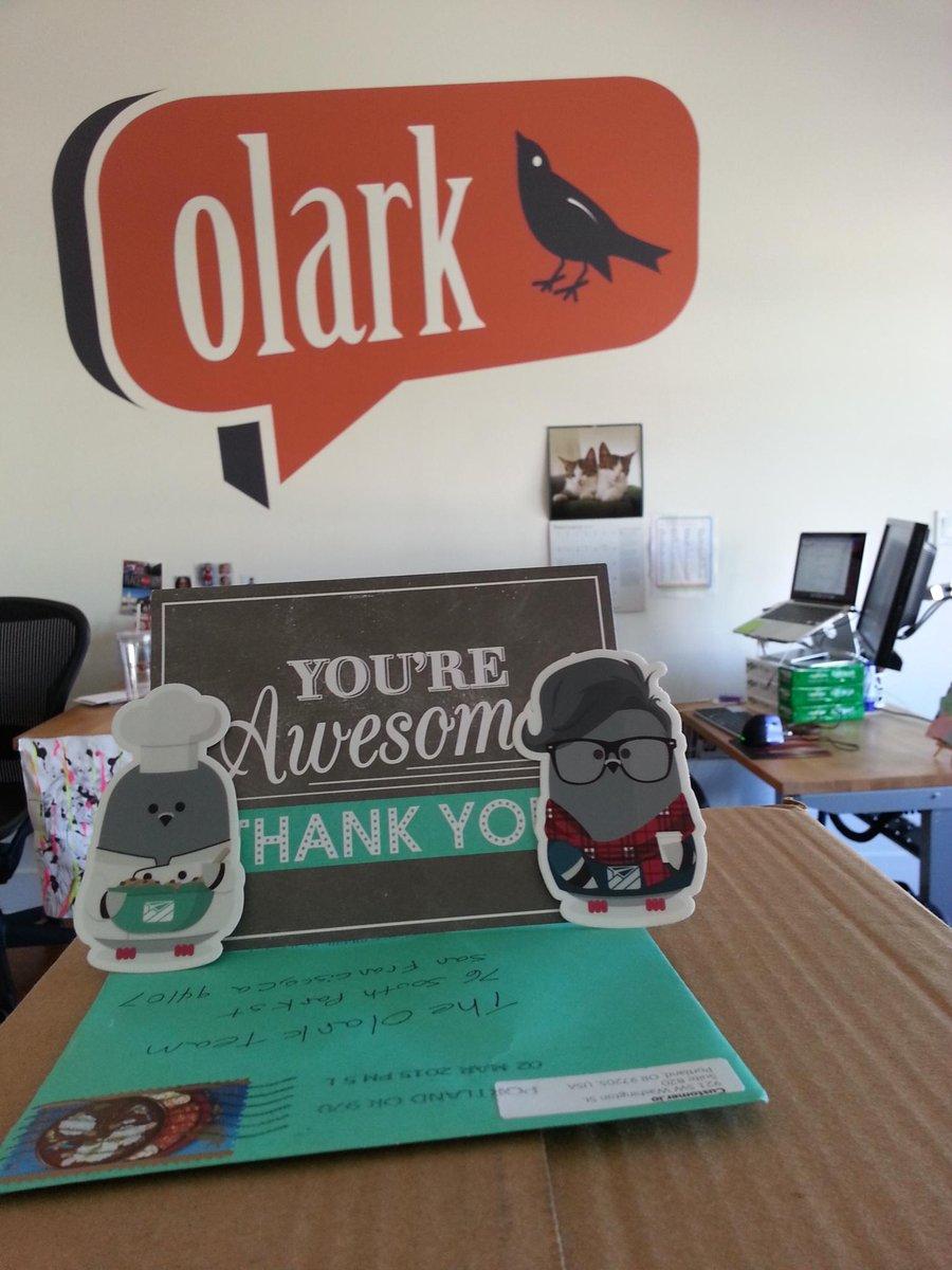 Thks to @CustomerIO esp @drpotter 4 the lovely card & stickers!! Happy to celebrate our 10k customers milestone w/ u! http://t.co/q8yDBhEnoJ