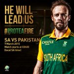 He is ready to lead us, South Africa,are you ready to support? Play starts at 3am on SuperSport 2, SABC 3 & 2000FM. http://t.co/6f4Cen7NUK