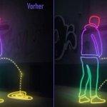 German city uses high-tech paint to splash public urinators with their own pee http://t.co/H94Trhc8B4 http://t.co/VlXDaCF1XQ