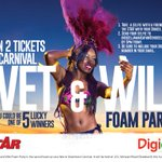Your SELFIE could win you FREE TICKETS to carnival Wet & Wild Foam Party #1Selfie2Tickets http://t.co/srFTJPOSYc
