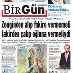 Bu gazete her şeye rağmen hayata umutla bakmamızı sağlıyor. @BirGun_Gazetesi http://t.co/tXllHLPjQt