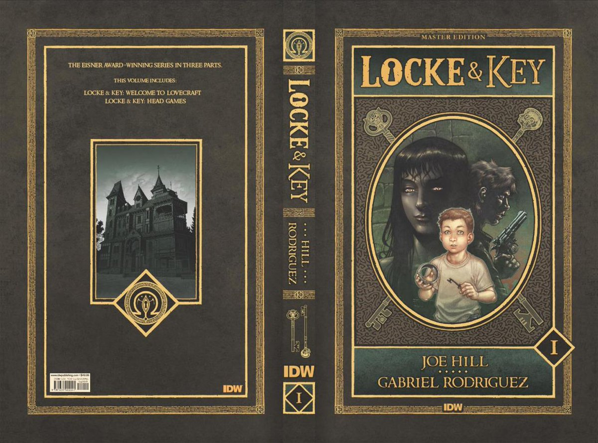 Locke & Key: Master Edition Vol. 1 coming this spring from @IDWPublishing. Cover art and book design by yours truly. http://t.co/uElcIfLYkg
