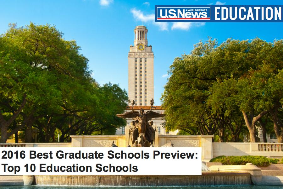 We made the list for @USNewsEducation's sneak peek of top 10 #BestGradSchools for Education!! #UTAustin @UTAustin http://t.co/d0LINUohZx