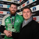 The #GUINNESSPRO12 Man of the Match is Aly Muldowney of @connachtrugby presented by Ross Broomfield of Guinness. http://t.co/j607u4awB8