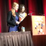 So great to see @Martzi13 and Yuting Su of @USC_IMGD presenting their game, Curioser and Curioser at #EGW #GDC15 !!!! http://t.co/aaFB5U5aLO