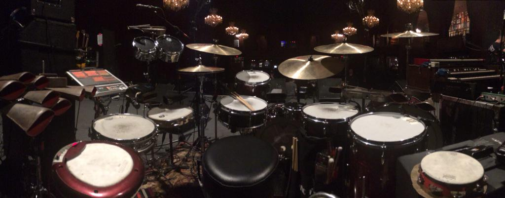My @Gretsch_Drums today with @GalacticFunk . First of two nights at the Fillmore @vicfirth @remopercussion @dwdrums http://t.co/CXIX3ZXRXD