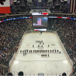About 8,000 more people watching high school hockey in Minnesota than watching the #MNWild in Carolina. #TheTourney http://t.co/izolUBOgh4
