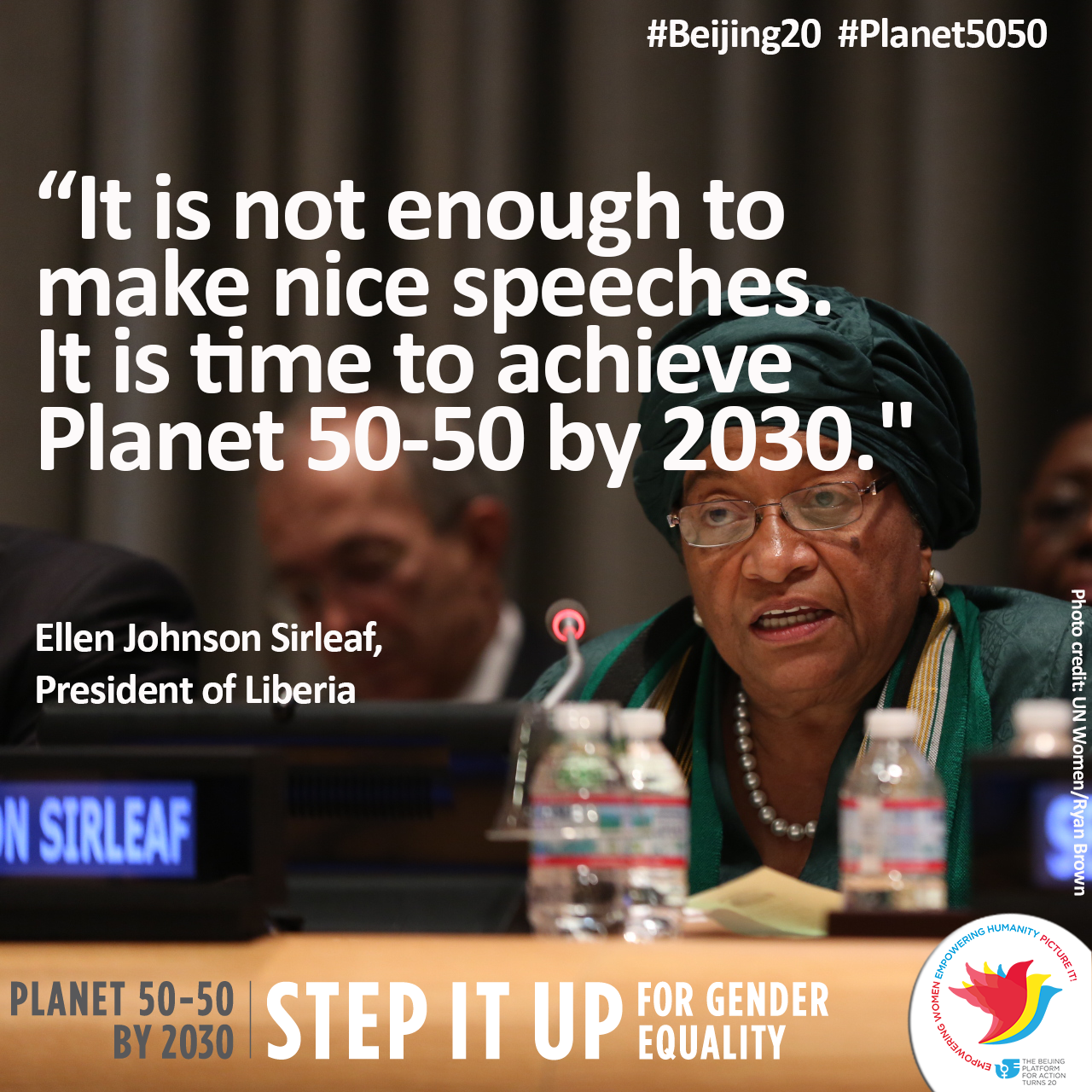 RT @phumzileunwomen: Powerful speech by President of Liberia this morning at @UN_PGA high-level event to commemorate #IWD2015 & #Beijing20 http://t.co/6Fy1SoUp3d