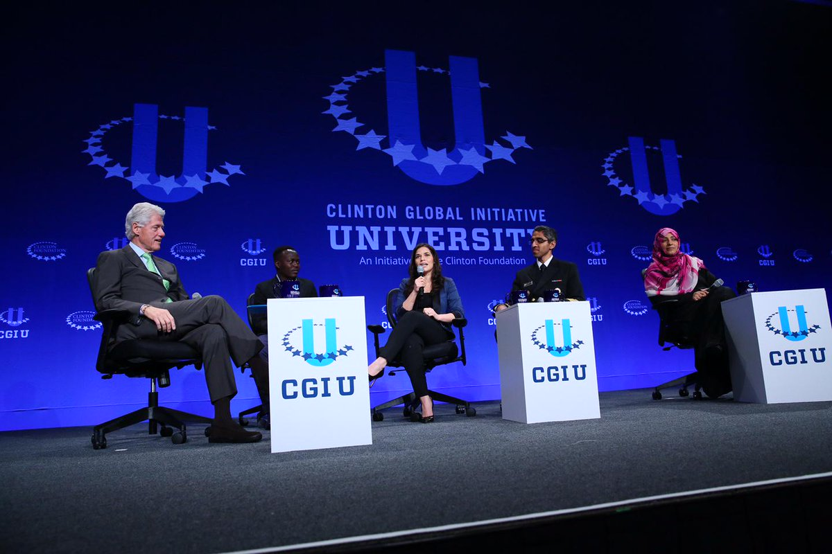 """""""Just because you can't do everything doesn't mean you can't do what you can do."""" - President @BillClinton #CGIU http://t.co/hnvHlxvMqC"""