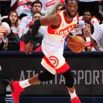 DeMarre Carrolls eyes down court for the @ATLHawks who lead @Cavs 53-43 at half. Horford leads w/ 13 pts on 6-8 FG. http://t.co/vNQ9SYfPjn