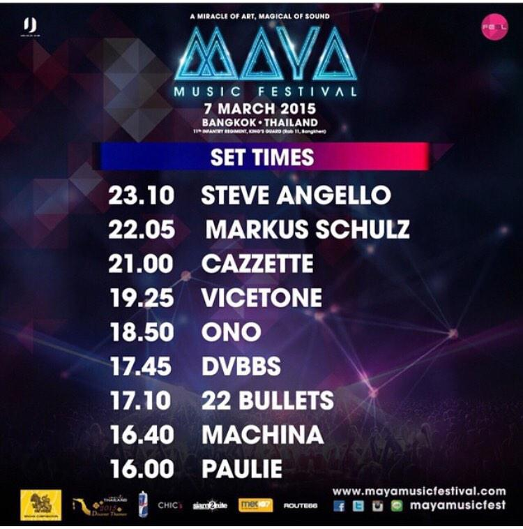 We welcome @SteveAngello, @CAZZETTE @DVBBS, @MarkusSchulz, @Vicetone at #mayafestival today http://t.co/g9UvSbDBmO