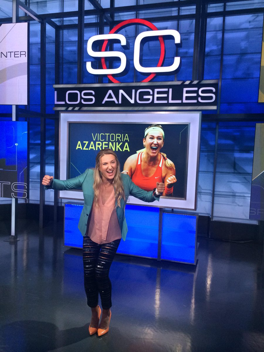 Tonight on @sportscenter - @vika7 - be sure to tune in! http://t.co/q4VZcdqnyu