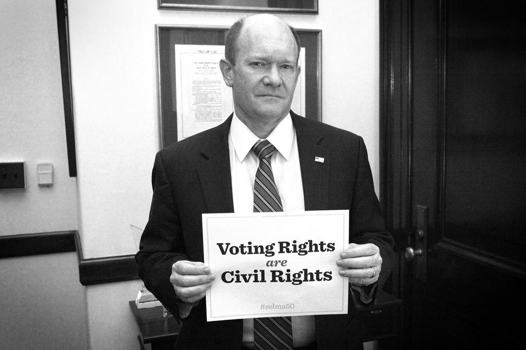 Will any of the Senate Republicans tweeting about #selma50 cosponsor our bill to restore the protections of the VRA? http://t.co/7dSo25WGvM
