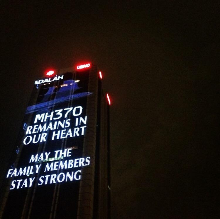 One year ago: you're still in our hearts #MH370 @HishammuddinH2O http://t.co/BAeLecB4h8