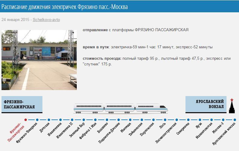 продаже расписание электричек лось ярославский вокзал объявления перевозке
