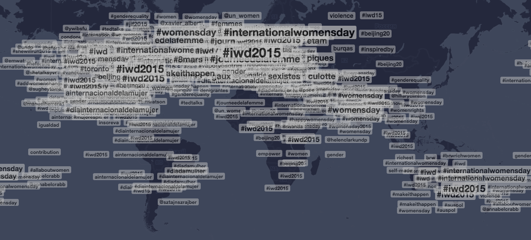 See how the world is marking #InternationalWomensDay on our custom Trendsmap http://t.co/EZ0qJyUw3N http://t.co/FJGL5K5o8C