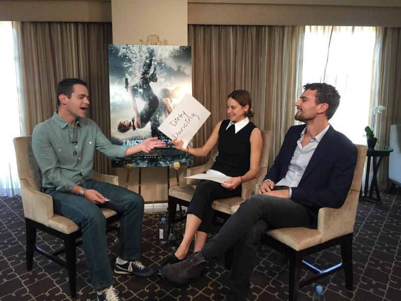 Another installment of the #NewlyFriendGame with #ShaileneWoodley & #TheoJames coming soon on @Fandango! #Insurgent http://t.co/ZiNSDMLce6