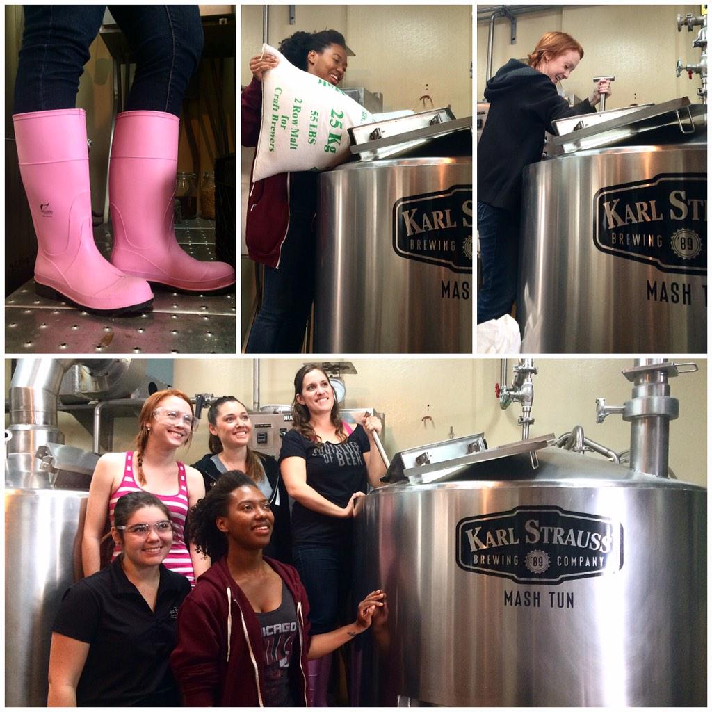 "It's International Women's Collaboration Brew Day! The ladies are Brewing up ""Raspberry-Rhubarb Unite Red Ale"" #IWCBD http://t.co/iERZcrGvGw"