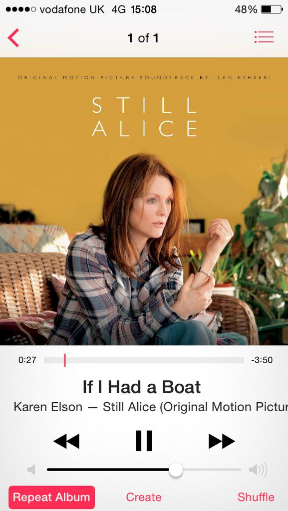 Finally watched #StillAlice.. Can't remember the last time a film moved me to this extent.
