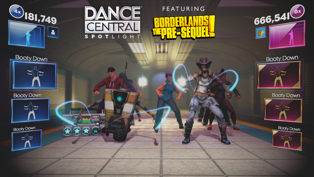 You can now dance with 2 @Borderlands char in DCS! Press X or Y 5 times in char select to unlock Nisha and Claptrap! http://t.co/hsYsWwXjGH
