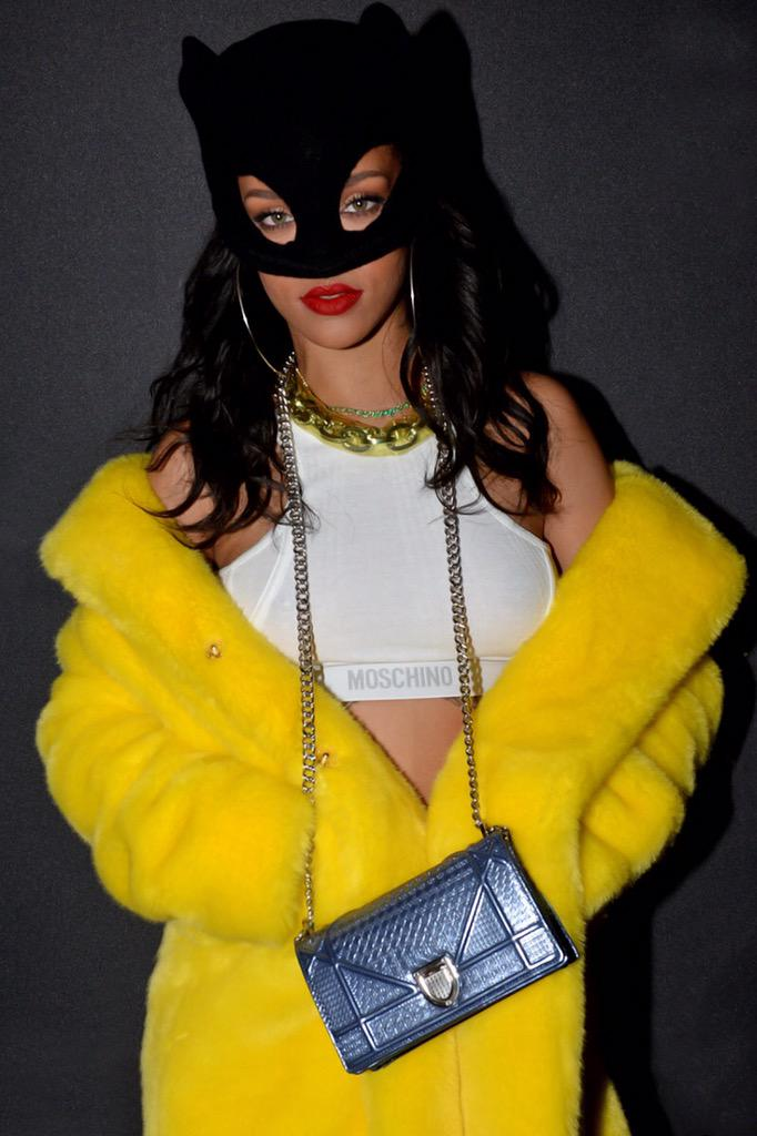 Rihanna at the Moschino Party. http://t.co/DDRl7QP2pg