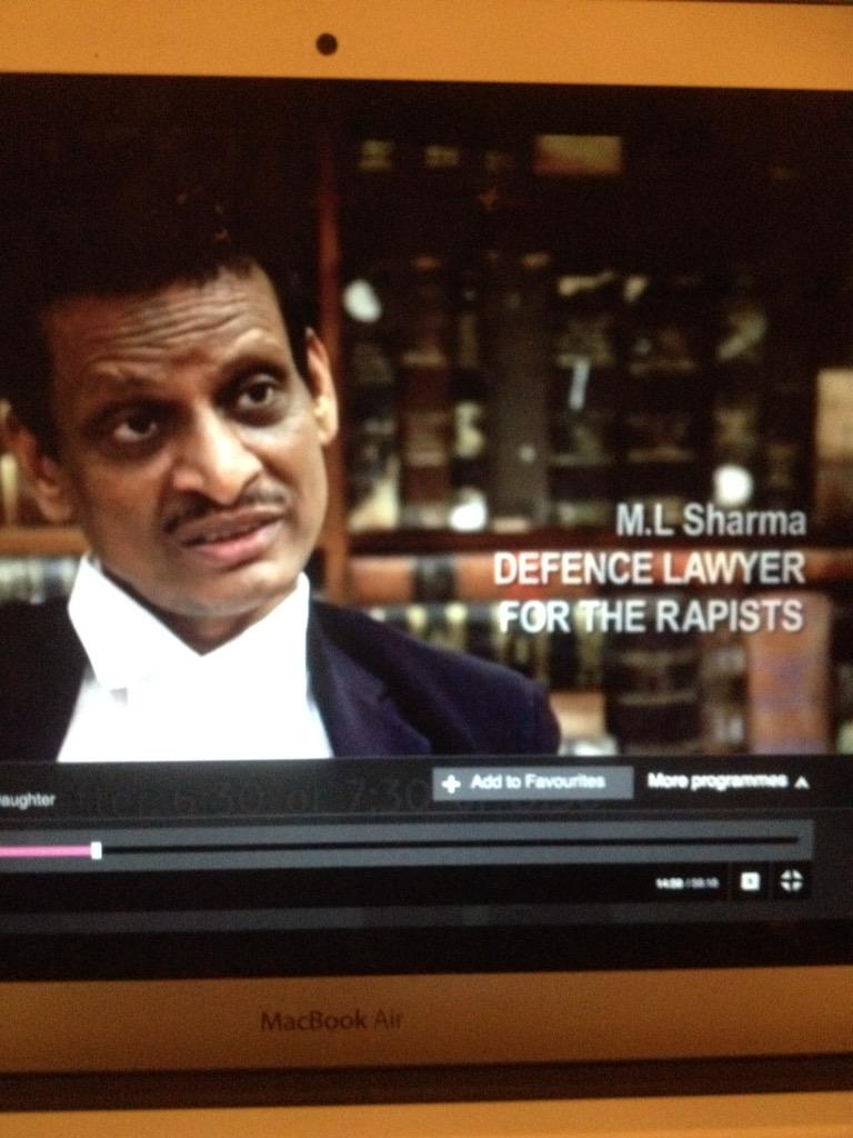 #IndiasDaughter just watching this - and I want to reach inside the screen and slap this man for what he's saying. http://t.co/Wkx0CO10pb